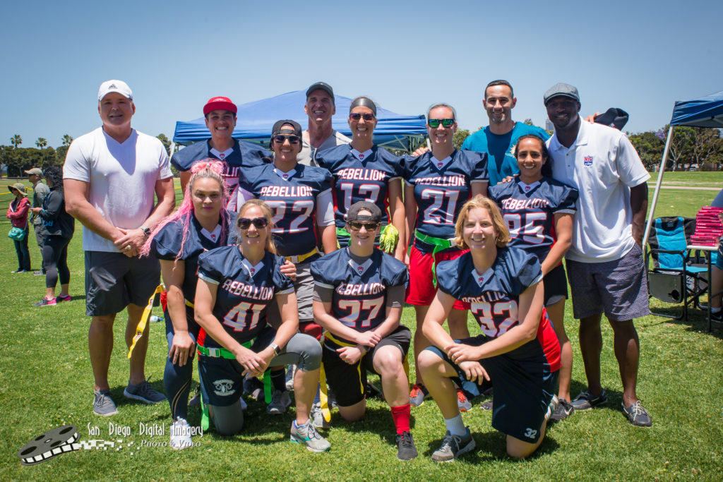 Rebellion players at Jen Welters Gridiron Girls Camp